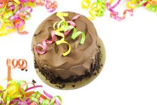 Chocolate Party Cake Royalty Free Stock Images