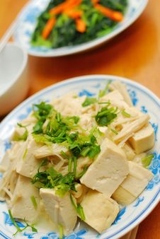 Free Chinese Vegetarian Bean Curd Cuisine Royalty Free Stock Photos - 13950638