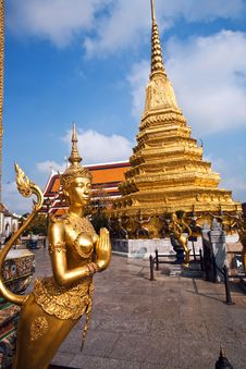 Free Kinaree, A Mythology Figure In The Grand Palace Stock Photography - 13951352