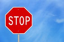 Free Stop Sign Royalty Free Stock Image - 13951426