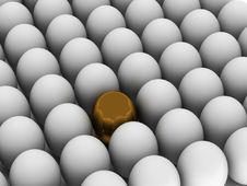 Free Individuality. Golden Egg. Royalty Free Stock Photo - 13951875