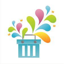 Colorful Basket Royalty Free Stock Image