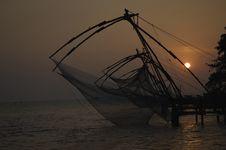 Chinese Fishing Nets At Kochi Royalty Free Stock Photos