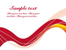 Free WAVES LINES SAMPLE TEXT Royalty Free Stock Photo - 13952225