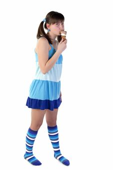 Free Teenager With Ice Cream Royalty Free Stock Photos - 13952408