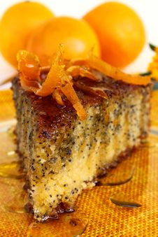 Free Orange Poppy Seeds Tart Stock Image - 13953081