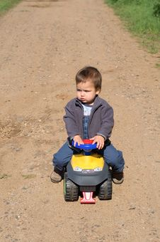 Free Child With His Toy Car Royalty Free Stock Photo - 13953355