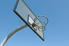 Free Basketball Hoop In Ghetto Royalty Free Stock Photography - 13953997