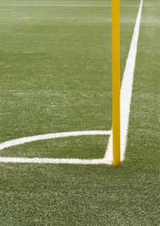 Free Soccer Angle With Corner Pole Stock Image - 13954021