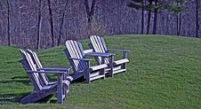 Free Wood Adirondack Chairs Royalty Free Stock Photo - 13954035