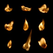 Free Many Flames Stock Photography - 13954472
