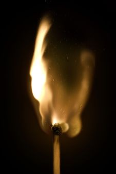 Free Burning Match Royalty Free Stock Photo - 13954475