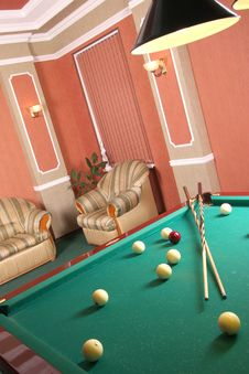 Free Table For Game In Billiards Stock Photos - 13954753