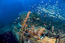 King Cruiser Wreck Stock Photo