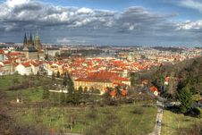 Prague Castle And City Center Stock Images
