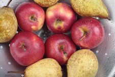 Free Apples And Pears Closeup Stock Image - 13955941