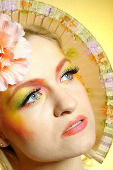 Close-up Summer Fashion Creative Eye Make-up Royalty Free Stock Photos