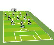 Free Soccer Team Tactical Scheme. Stock Photo - 13957390