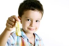 Free Child Eating Apple Stock Images - 13957424
