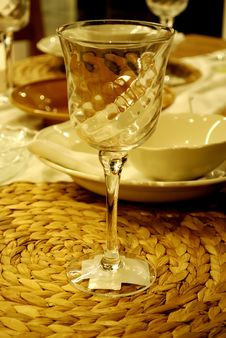 Free Goblet On The Table. Royalty Free Stock Photos - 13958358