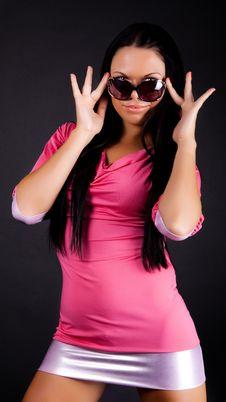 Free Sexy Girl Wearing Miniskirt Stock Photo - 13958910