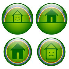 Real Estate Glossy Buttons Stock Photos