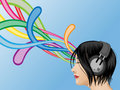 Free Headphone Girl Royalty Free Stock Photos - 13965828