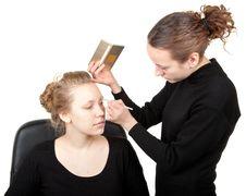 Free Makeup Process  Shot �13 Stock Photography - 13961112