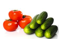 Free Tomatoes And Cucumbers Stock Photography - 13961302