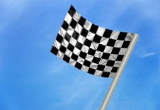 Free F1 Winner Flag Royalty Free Stock Images - 13961379
