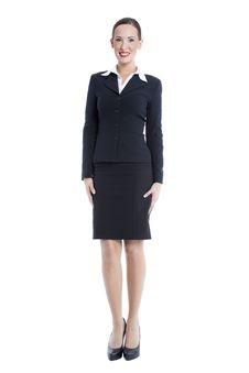 Free Businesswoman Isolated On White Royalty Free Stock Photo - 13961465