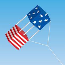 American Patriotic Box Kite Stock Image