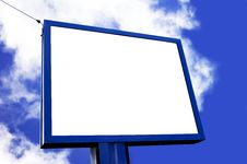 Free Blank Billboard Royalty Free Stock Photos - 13961898