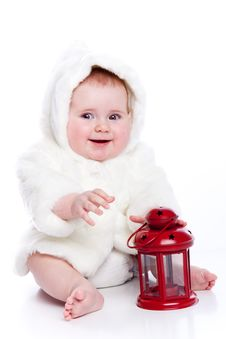Free Cute Little Girl With A Warm Coat Stock Images - 13962134