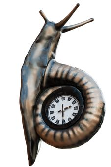 Free Snail Clock Royalty Free Stock Photography - 13962447