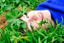 Free On The Green Grass Royalty Free Stock Image - 13962776