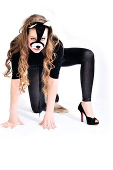 Free Sweet Cat-woman Royalty Free Stock Photography - 13962817