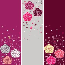Free Banners With Roses Stock Photo - 13963230