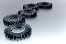 Free 3d Gears Stock Photography - 13963732