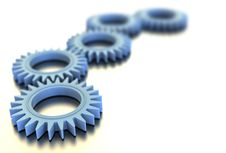 Free 3d Blue Gears Stock Image - 13963741