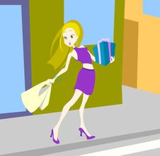 Free Shopper Girl Stock Photos - 13963953
