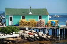 Free Lobster Traps And Boat House Stock Photography - 13966262