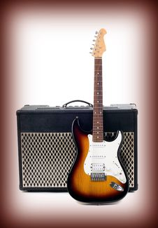 Free Guitar Amplifier And Electricguitar Royalty Free Stock Photography - 13966357