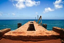 Abandoned Pier Stock Photo