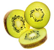 Free Three Kiwi Slices Royalty Free Stock Photos - 13966408