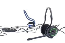 Free Black Headphones Isolated On White Background Stock Image - 13966501
