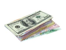 Pile Of Banknotes Royalty Free Stock Image