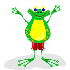 Free Friendly Frog Stock Photography - 13966832