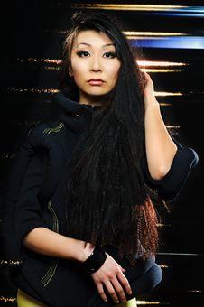 Brunette Asian Model Royalty Free Stock Photos