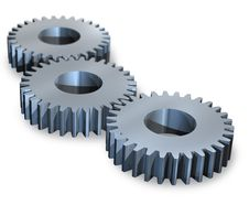 Three Gear Wheels Stock Photography